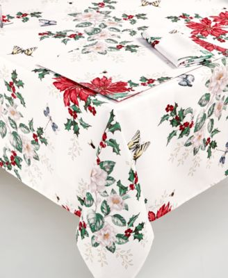 """Butterfly Meadow Poinsettia 60"""" x 84"""" Tablecloth"""