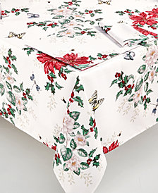 "Lenox Butterfly Meadow Poinsettia 70"" Round Tablecloth"