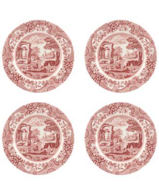 Cranberry Italian Salad Plate - Set of 4