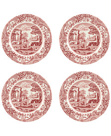 Spode Cranberry Italian Salad Plate - Set of 4
