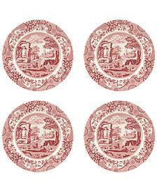 Spode Cranberry Italian Salad Plate - Set of 4