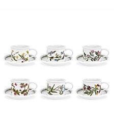 Portmeirion Botanic Garden Breakfast Cup and Saucer, Set of 6