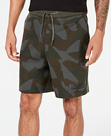 A|X Armani Exchange Men's Distressed Camo Shorts