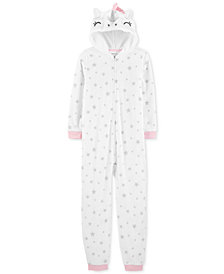 Carter's Little Girls Unicorn Fleece Footless Pajamas