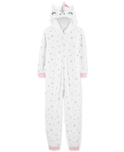 3d5fc95e8 Carter s Little Girls Unicorn Fleece Footless Pajamas   Reviews ...