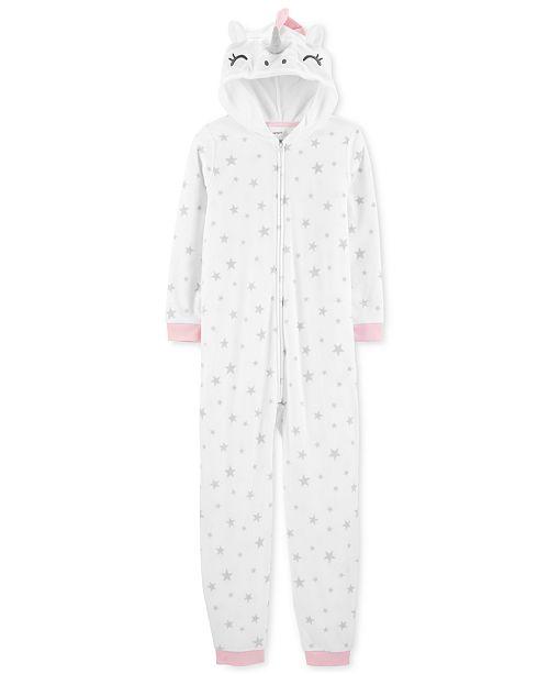 a7748a198e05 Carter s Little Girls Unicorn Fleece Footless Pajamas   Reviews ...