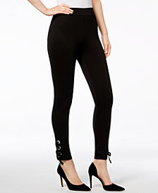 I.N.C. Lace-Up Ankle Leggings, Created for Macy's