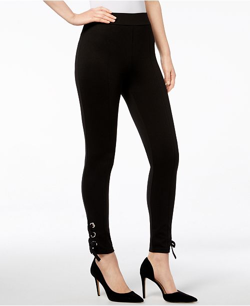 INC International Concepts I.N.C. Shaping Lace-Up Ankle Leggings, Created for Macy's
