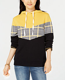 Ultra Flirt by Ikeddi Juniors' Colorblocked Hoodie