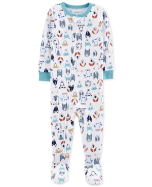 Carters Baby Boys DogPrint Cotton Footed Pajamas