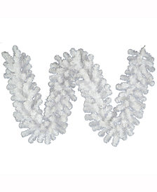 Vickerman 9' Crystal White Spruce Artificial Christmas Garland Unlit