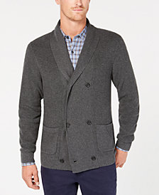 Tasso Elba Men's Double Breasted Supima Cotton Cardigan, Created for Macy's