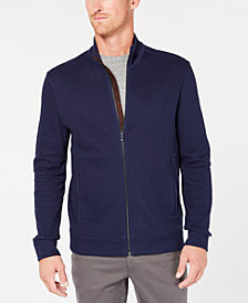 Tasso Elba Men's Zip-Front Heathered Jacket, Created for Macy's