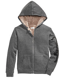 Epic Threads Big Boys Full-Zip Fleece-Lined Hoodie, Created for Macy's