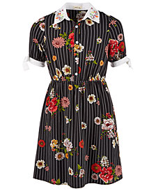 Monteau Big Girls Floral-Print Shirtdress