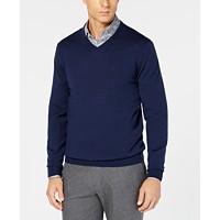 Deals on Tasso Elba Mens Merino Wool V-Neck Sweater