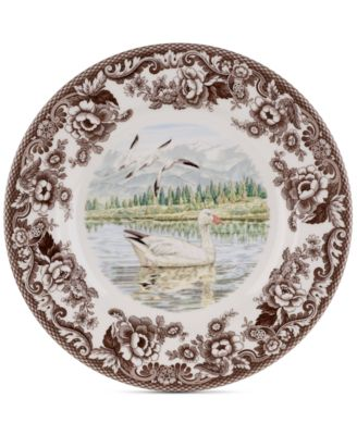 Woodland Snow Goose Dinner Plate