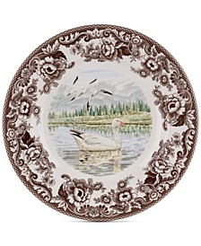 Woodland Snow Goose Dinner Plate