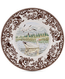 Spode Woodland Snow Goose Dinner Plate