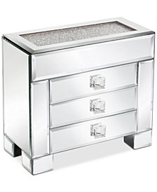 Jay Imports American Atelier' Mirror Box With White Crushed Detail