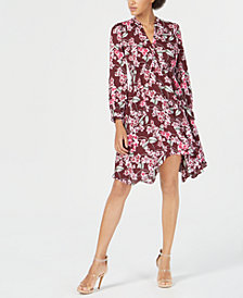 Bar III Handkerchief-Hem Shirtdress, Created for Macy's