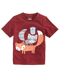 First Impressions Baby Boys Critter-Print Cotton T-Shirt, Created for Macy's