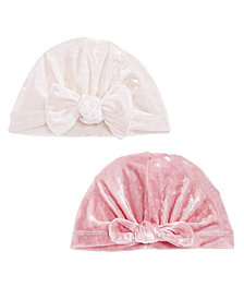 First Impressions Baby Girls 2-Pk. Velvet Turban Headbands, Created for Macy's