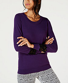 Michael Kors Petite Velvet Lace Sweater