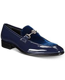 Roberto Cavalli Men's Velvet & Patent Moc-Toe Bit Loafers