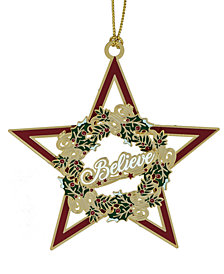 CheMart Star Believe Wreath Ornament