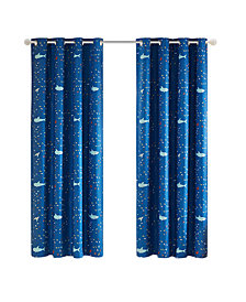 "Urban Dreams Ocean Adventures 50"" x 84"" Total Blackout Grommet Window Panel Pair, Created for Macy's"