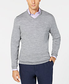 Tasso Elba Men's Merino Wool V-Neck Sweater, Created for Macy's