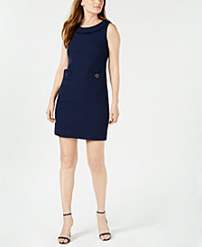 Anne Klein Tweed Sheath Dress, Created for Macy's