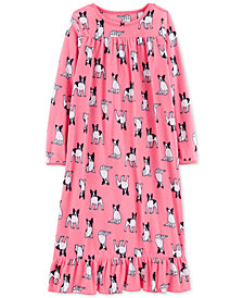 Carter's Little & Big Girls Bulldog Graphic Fleece Nightgown