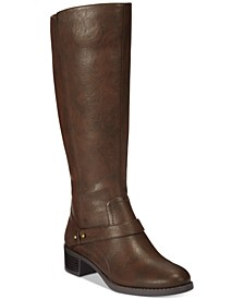 Jewel Wide-Calf Riding Boots