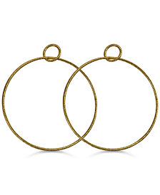 GUESS Door Knocker Hoop Earrings