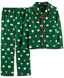 Carter's Little & Big Boys 2-Pc. Holiday-Print Fleece Pajama Set