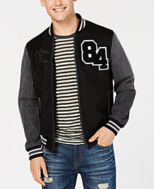American Rag Men's Hybrid Varsity Jacket, Created for Macy's