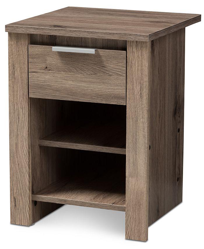 Furniture - Laverne 1-Drawer Nightstand, Quick Ship