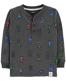 Carter's Toddler Boys Monster Cotton Henley