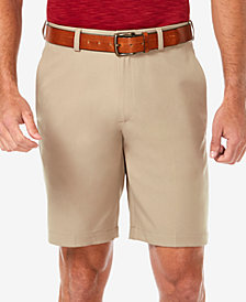 "Haggar Men's Cool 18 PRO Flat Front Classic-Fit 9.5"" Dress Shorts"
