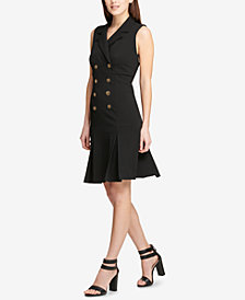 DKNY Double-Breasted Shirtdress, Created for Macy's