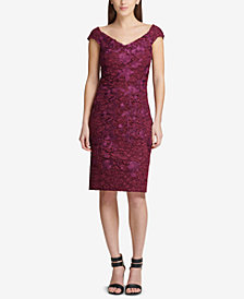 DKNY Sweetheart Corded Lace Sheath Dress, Created for Macy's