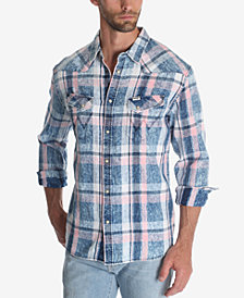 Wrangler Men's Plaid Western Shirt