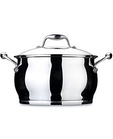 Zeno 10.6qt Stainless Steel Covered Stockpot