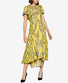 BCBGMAXAZRIA Stream of Bloom High-Low Dress