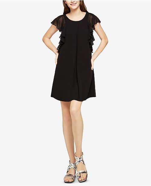 A Dress BLACK BCBGeneration Ruffled Line 6qCwFSYx