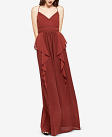BCBGeneration Checkered Chiffon Maxi Dress