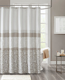 "510 Design Ramsey 72"" x 72"" Printed and Embroidered Shower Curtain"