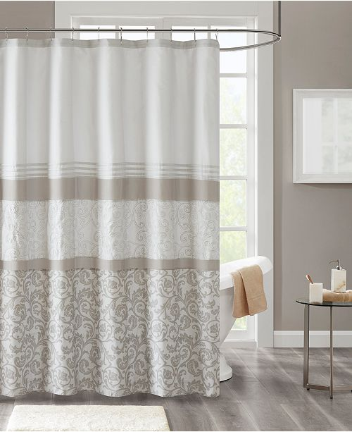510 Design Ramsey 72 X 72 Printed And Embroidered Shower Curtain